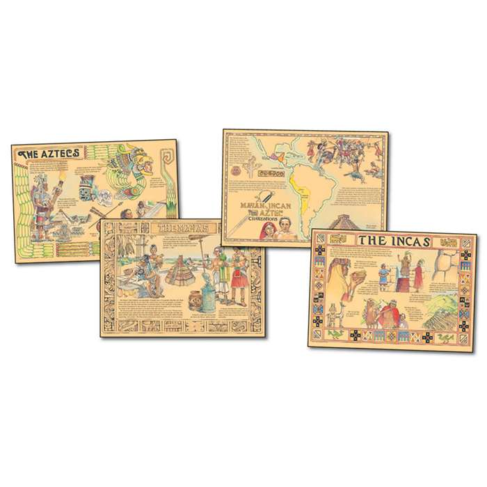 Mayan Incan Aztec Civilizations Bulletin Board Set By Carson Dellosa