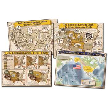 Historical Maps Of The U.S. Bulletin Board Set By Carson Dellosa