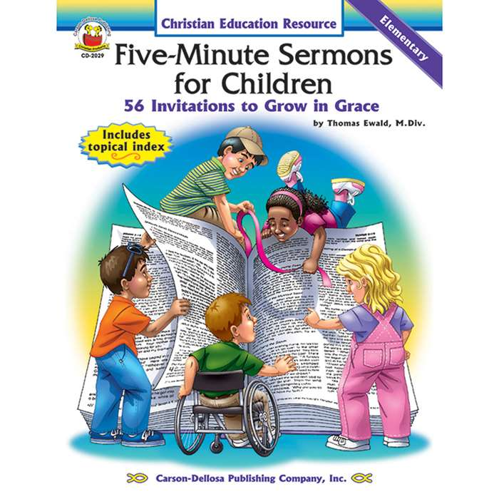 Five-Minute Sermons For Children By Carson Dellosa
