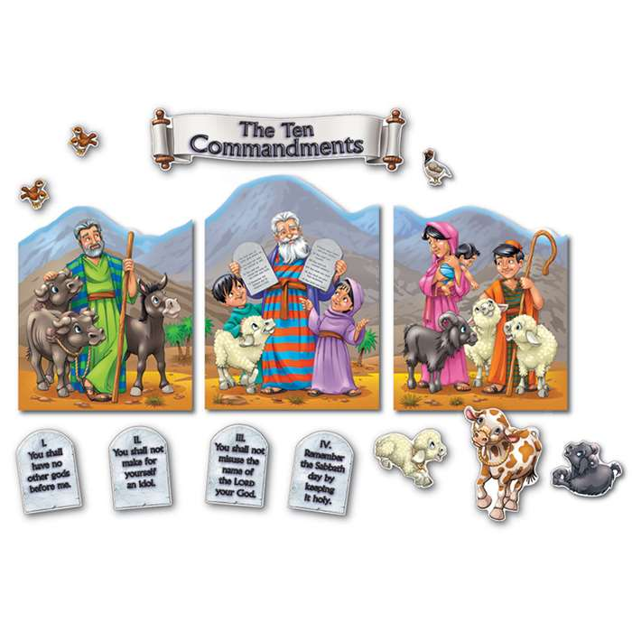 The Ten Commandments Bulletin Board Set By Carson Dellosa