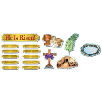 He Is Risen Bulletin Board Set By Carson Dellosa