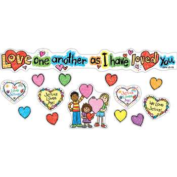 Love One Another Mini Bulletin Board Set Gr Pk-3 By Carson Dellosa