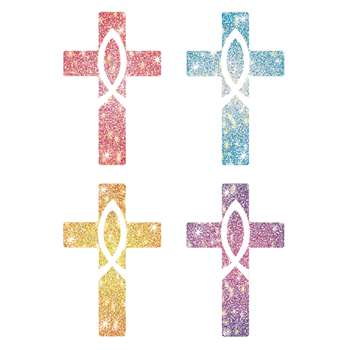 Dazzle Stickers Crosses 120/Pk Acid & Lignin Free By Carson Dellosa