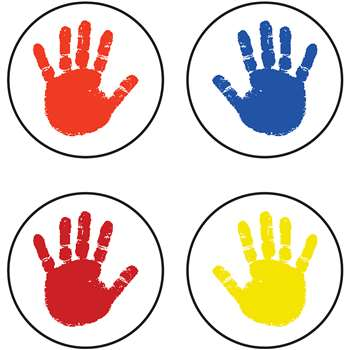 Chart Seals Handprints 810/Pk Acid & Lignin Free By Carson Dellosa
