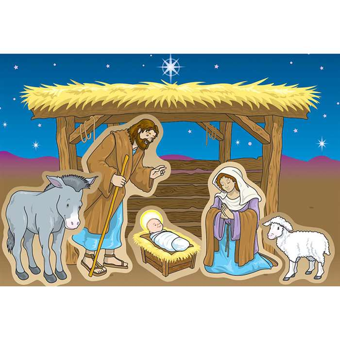 Nativity Stickers By Carson Dellosa