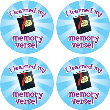 I Learned My Memory Verse Stickers By Carson Dellosa