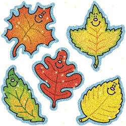 Dazzle Stickers Fall Leaves 75-Pk Acid & Lignin Free By Carson Dellosa
