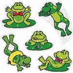 Dazzle Stickers Frogs 75-Pk Acid & Lignin Free By Carson Dellosa
