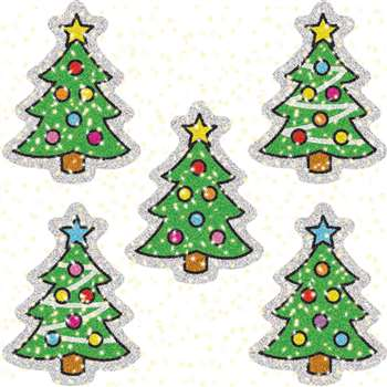 Dazzle Stickers Christmas Trees 75 Acid & Lignin Free By Carson Dellosa