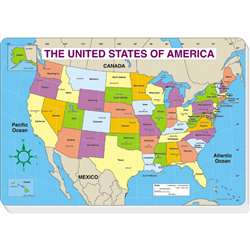 Jumbo Map Pad Us Labeled 30/Pk 16 X 10-3/4 By Carson Dellosa