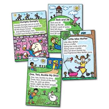 Bb Set Nursery Rhymes Kid-Drawn 8 Illustrated Rhymes By Carson Dellosa