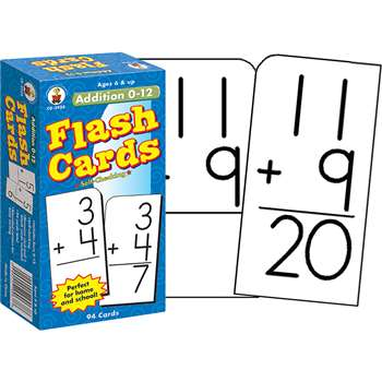 Flash Cards Addition 0-12 By Carson Dellosa