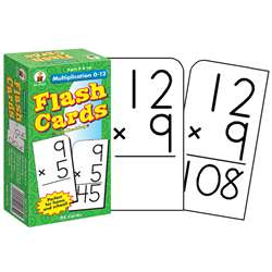 Flash Cards Multiplication 0-12 By Carson Dellosa