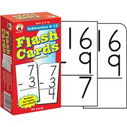 Flash Cards Subtraction 0-12 By Carson Dellosa