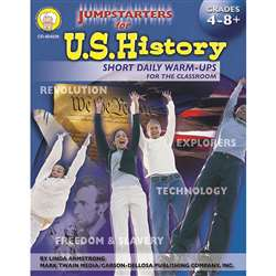 Jumpstarters For Us History Grade 4-8+ By Carson Dellosa