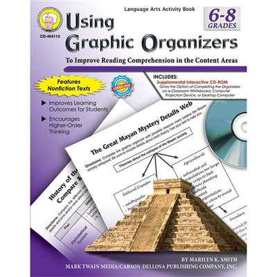 Using Graphic Organizers Book (Gr 6-7) By Carson Dellosa