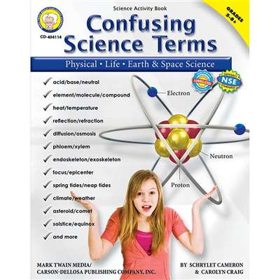 Confusing Science Terms Book Gr 5-8 By Carson Dellosa