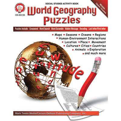 World Geography Puzzles By Carson Dellosa