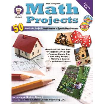 Math Projects Gr 5-8 By Carson Dellosa