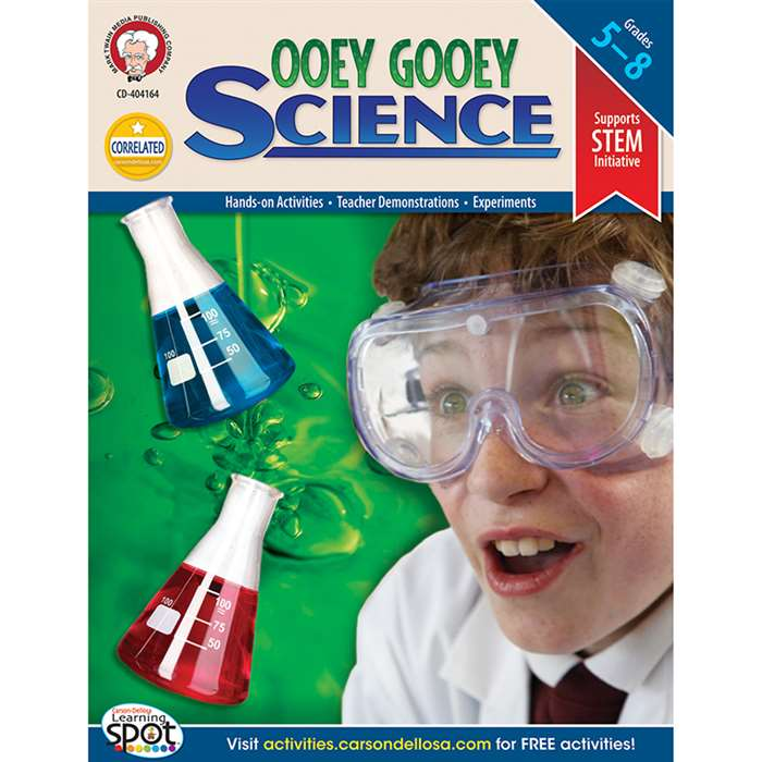 Ooey Gooey Science Investigations By Carson Dellosa