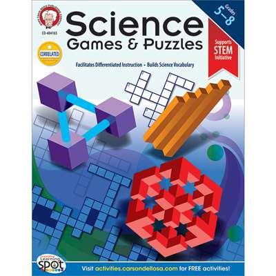 Science Games And Puzzles By Carson Dellosa