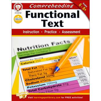 Comprehending Functional Text Gr 6-8 By Carson Dellosa