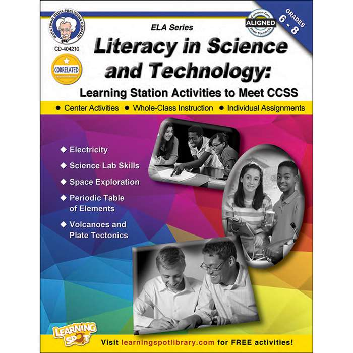 "Literacy "" Science & Technology Book Gr 6-8, CD-404210"