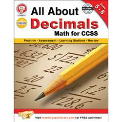 All About Decimals Book Gr 5-8, CD-404213