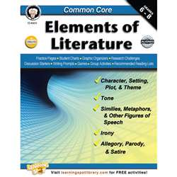 Shop Common Core Elements Of Literature Book Gr 6-8 - Cd-404215 By Carson Dellosa