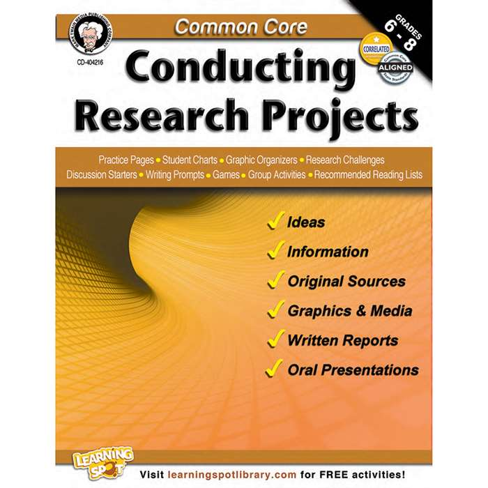 Shop Common Core Conducting Research Projects Book Gr 6-8 - Cd-404216 By Carson Dellosa