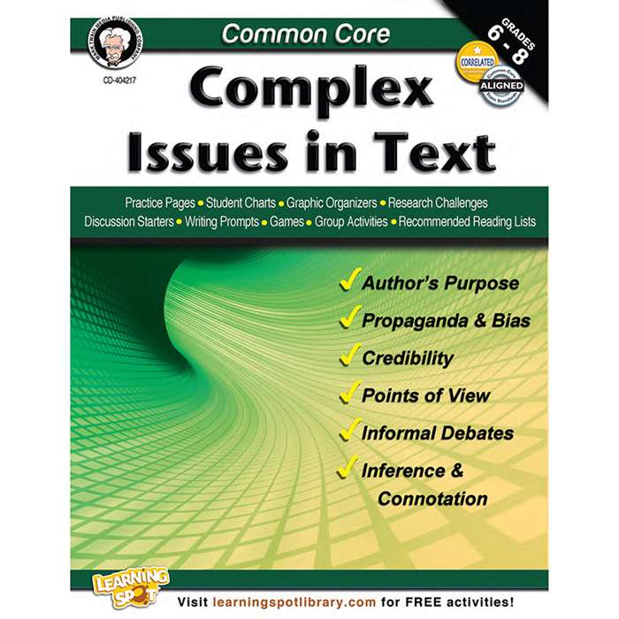 Shop Common Core Complex Issues In Text Book Gr 6-8 - Cd-404217 By Carson Dellosa