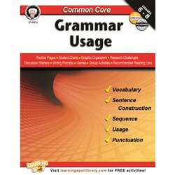 Shop Gr 6-8 Common Core Grammar Usage Book - Cd-404219 By Carson Dellosa