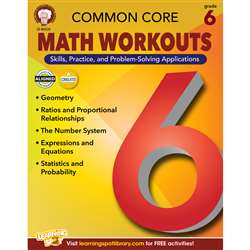 Shop Gr 6 Common Core Math Workouts Book - Cd-404220 By Carson Dellosa