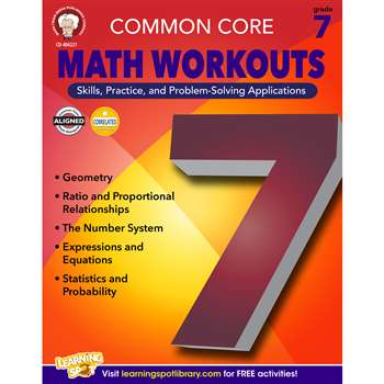 Shop Gr 7 Common Core Math Workouts Book - Cd-404221 By Carson Dellosa