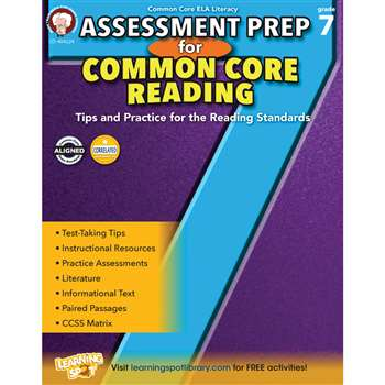 Gr 7 Assessment Prep For Common Core Reading, CD-404224