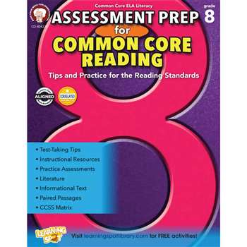 Gr 8 Assessment Prep For Common Core Reading, CD-404225