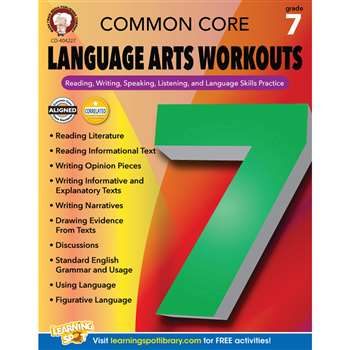 Gr 7 Common Core Language Arts Workouts, CD-404227