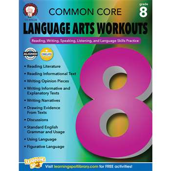 Gr 8 Common Core Language Arts Workouts, CD-404228