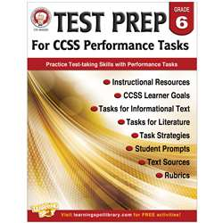Gr 6 Test Prep For Ccss Performance Tasks, CD-404229