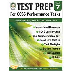 Gr 7 Test Prep For Ccss Performance Tasks, CD-404230