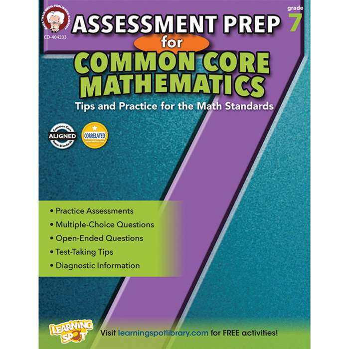 Gr 7 Assessment Prep For Common Core Mathematics, CD-404233