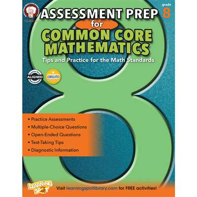 Gr 8 Assessment Prep For Common Core Mathematics, CD-404234