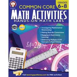 Common Core Math Activities, CD-404235