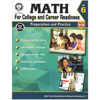 Gr 6 Math For College And Career Readiness, CD-404238