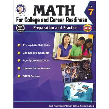 Gr 7 Math For College And Career Readiness, CD-404239