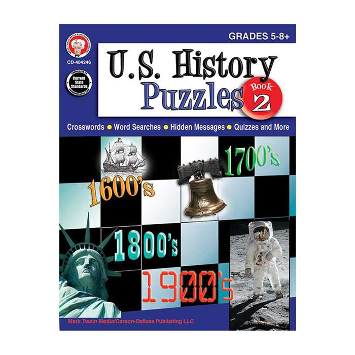 Us History Puzzles Book 2 Gr 5-8, CD-404246