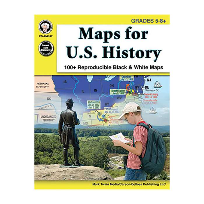 Maps For Us History Gr 5-8, CD-404247