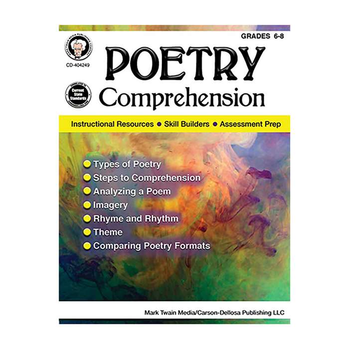 Poetry Comprehension Gr 6-8, CD-404249