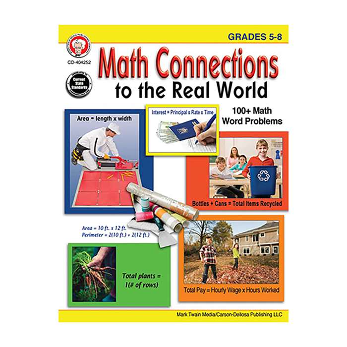 Math Connections To The Real World Gr 5-8, CD-404252