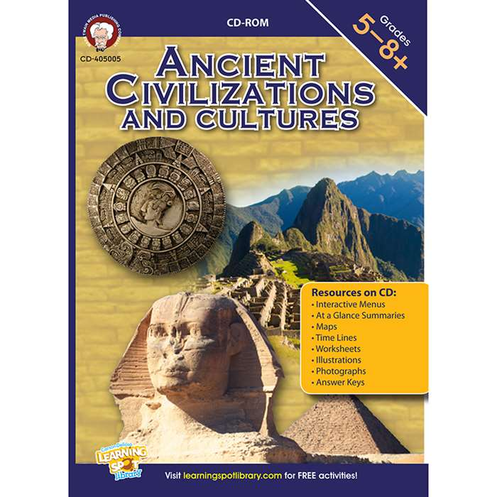 Ancient Civilizations And Cultures Cd By Carson Dellosa